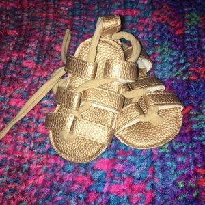Other - Strappy gold metallic infant sandal